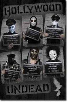 'Hollywood Undead' is a rap rock band from Los Angeles. All of the band members use pseudonyms and wear their own unique mask, most of which are based on the common hockey goaltender design. Linkin Park, Music Love, Music Is Life, Rock Music, Amazing Music, Music Music, Music Lyrics, Papa Roach, Breaking Benjamin
