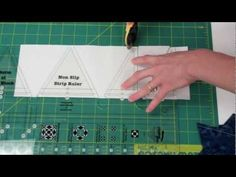 Use the straight side of this strip ruler to cut all of the strips and squares necessary to create a finished Storm at Sea block. Turn the ruler around t. Msqc Tutorials, Quilting Tutorials, Quilting Tools, Quilting Rulers, Storm At Sea Quilt, Nautical Quilt, Missouri Star Quilt, Quilt Sizes, Sewing Techniques