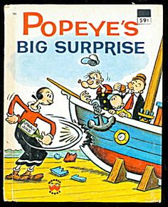 """1976 """"Popeyes Big Surprise"""" Wonder Book. Click on the image for more information."""