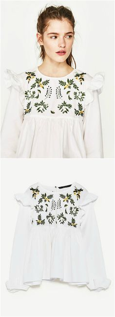 Nature Boho Top is now available at $35. A Boho Embroidery Top in White. This top exhibit brilliant design with unique embroidered patterns.