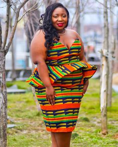 34 Latest Ghanaian Kente Dresses Styles For Engagement To Copy in 2019 Ghana Fashion Dresses, Latest African Fashion Dresses, African Print Fashion, Ankara Fashion, African Attire, African Wear, African Women, Kente Dress, Different Types Of Dresses