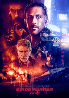 "Alternative movie poster for ""Blade Runner 2049"" #alternative #movie #poster #bladerunner #scifi #illustrated #posterart"
