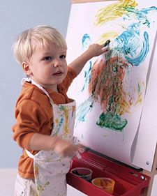 Homemade finger paints are nontoxic, washable, and always available. Art Activities For Toddlers, Preschool Activities, Indoor Activities, Infant Activities, Diy For Kids, Crafts For Kids, Nifty Crafts, Toddler Crafts, Fall Crafts