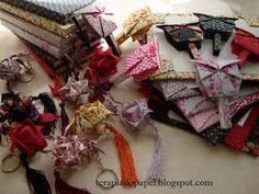 Oripads, cadernos artesanais e chaveiros de kusudama em orinuno
