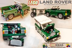 Dadandlad Lego Land Rover Polar Express Trailer, Cool Lego, Cool Toys, Lego Tractor, Lego Mini, Best Rc Cars, Lego Car, Amazing Lego Creations, Lego Ship