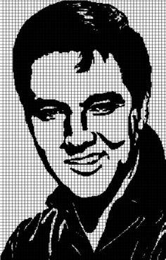 Elvis Presley Crochet Graphghan Pattern by YarnLoveAffair on Etsy, $15.00