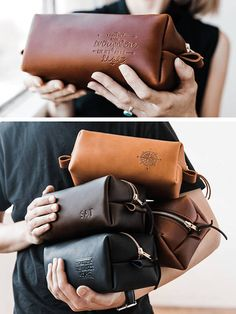 Huge SALE 50% OFF... Dopp Kit Bag Groomsmen Gift Leather