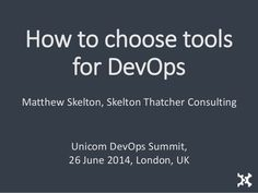 How to choose tools for DevOps