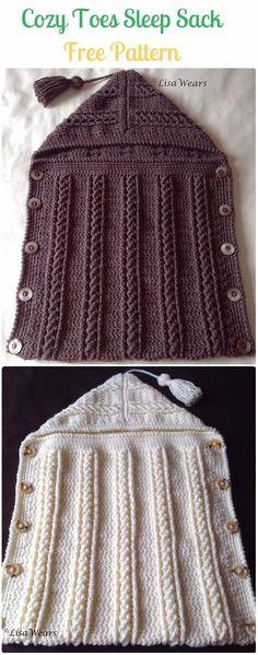 Crochet Cozy Toes Sleep Sack Free Pattern - Crochet Snuggle Sack & Cocoon Free Patterns