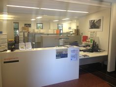 Front office area inside the school of Journalism and Communication
