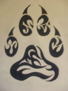 Résultats Google Recherche dimages correspondant à http://www.tattoostime.com/images/68/tribal-wolf-paw-tattoo-by.jpg