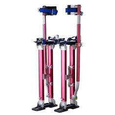 """Pentagon Tool Professional 24""""-40"""" Red Drywall Stilts Highest Quality"""