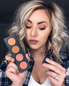 Pumpkin palette and a brick red lipstick 🍁🍂🍃 Moodstruck Custom Pressed Shadow Quad: witty, gingerly, Younique Eyeshadow, Makeup Eyeshadow, Fall Eyeshadow Looks, Splurge Cream Shadow, Long Lasting Lip Gloss, Custom Eyes, Palette, Red Lipsticks, Make Up