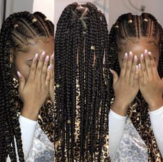 12 Easy Winter Protective Natural Hairstyles For Kids - Box Braids Hairstyles Black Kids Hairstyles, Black Girl Braided Hairstyles, Natural Hairstyles For Kids, Natural Braided Hairstyles, Kids Natural Hair, African Hairstyles For Kids, Elegant Hairstyles, Box Braids Hairstyles, Girl Hairstyles