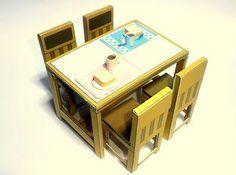 CASITA DE PAPEL: mobiliario