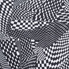 Black/White Abstract Geometric Stretch Polyester Neoprene