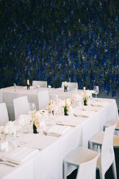 Flower wall at The Walker Art Center Minneapolis Minnesota Wedding Coordinator, Wedding Planner, Minimalist Wedding Reception, Wedding Wall Decorations, Wedding Reception Flowers, A Night To Remember, Design Fields, Living In New York, Real Weddings