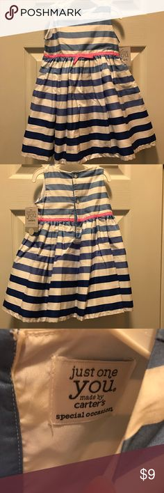 NWT Striped dress NWT Carters Special Occasion striped dress, very adorable! Carter's Dresses