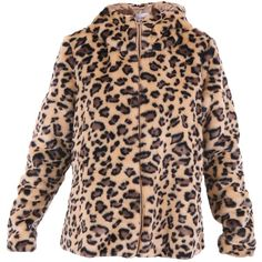 Dondup Emilee Faux Fur Jacket ($335) ❤ liked on Polyvore featuring outerwear, jackets, leopard, fake fur jacket, faux fur jacket, dondup, leopard jacket and leopard print faux fur jacket