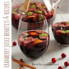 This sounds wonderful! Recipe for pomegranate cranberry sangria. With red wine, plenty of fruit and cranberry, pomegranate and orange juices. Tequila, Vodka, Fancy Drinks, Yummy Drinks, Monster Cook, Cookie Monster, Cranberry Juice Benefits, Cranberry Sangria, Timmy Time