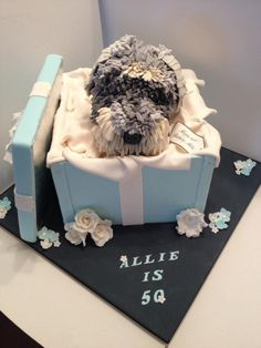 Schnauzer birthday cake, I would love this for my bday cake, only in pink of course for my girls, Bella & Precious