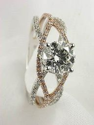 I actually really like the white gold with this ring! super pretty