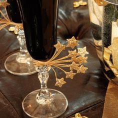 Ramo de estrellas para decoración de copas. Ideas originales.