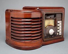 ZENITH 6P430 Ingraham Cabinet Tube Radio Art Deco