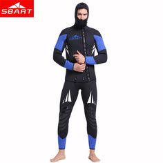 86ad9e0e2c SBART Professional 5mm Neoprene Wetsuit For Spearfishing Swimming  Underwater Diving Equipment Suit Set Men Snorkeling Wet