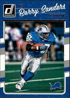 2016 Donruss Detroit Lions Football Card #103 Barry Sanders