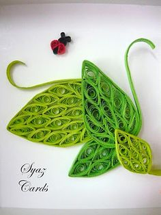 Leaves of a tree quilled