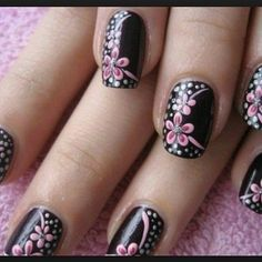 Nail Designs is a wonderful creativity to make your nails look stunning. It is excellent for Girls and women's who love growing pretty nail designs! Nail Designs 2014, Flower Nail Designs, Flower Nail Art, Cool Nail Designs, Acrylic Nail Designs, Paint Designs, Fancy Nails, Trendy Nails, Cute Nails