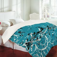 'Modern Design 2' Duvet Cover from Deny Designs!  One of my abstract paintings created on a Duvet Cover ~ http://denydesigns.com/collections/madart-inc-modern-design-2/products/madart-inc-modern-design-2-duvet-cover