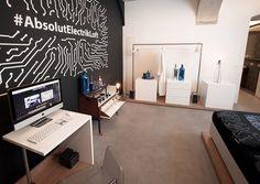 Product Launch ABSOLUT Electrik Limited Edition, Vienna #absolutelectrik Vienna, Product Launch, Loft, Desk, Furniture, Home Decor, Homemade Home Decor, Desktop, Writing Desk