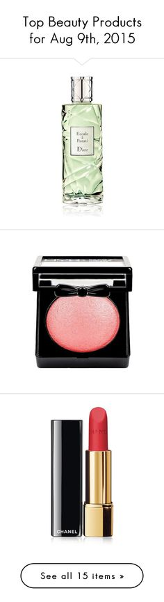 """""""Top Beauty Products for Aug 9th, 2015"""" by polyvore ❤ liked on Polyvore featuring beauty products, fragrance, perfume, filler, christian dior, edt perfume, mint perfume, perfume fragrances, eau de toilette perfume and makeup"""