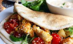 20 minuten gerecht. Libanees vloerbrood met gekruide kip - Fitgirls