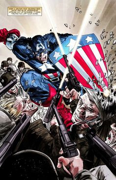 From Captain America/Black Panther: Flags of our Fathers #1 by Hudlin/Cowan.