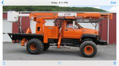 Bucket truck I want Tow Truck, Big Trucks, Tree Care, Lineman, Heavy Equipment, Offroad, Tractors, 4x4, Daddy