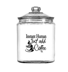 Instant Human Just add coffee!!! Great to put Kurig K cups in or your ground coffee! www.mysimplysaiddesigns.com/939/