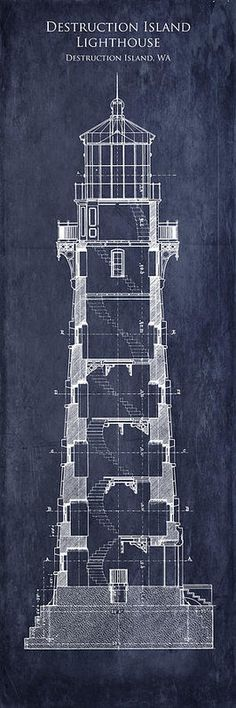 Destruction Island Lighthouse Interior Section Blueprint Poster by Sara Harris. All posters are professionally printed, packaged, and shipped within 3 - 4 business days. Choose from multiple sizes and hundreds of frame and mat options.