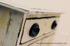 DIY distressed cabinet