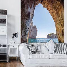 29,90 €  Tapete Wandbild Foto Bild Wasser Ozean Stein 3599 P4a