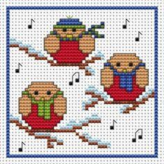 Rockin' Robins Cross Stitch Christmas Card Kit - £6.60 on Past Impressions | by Fat Cat Cross Stitch