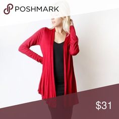 Key To Simplicity Cardigan - Red 🎀New Arrival🎀 Retail NWT Key To Simplicity Cardigan - Red Made in USA   🔆 Bundles = 10% off & FREE Gift ❌ No Trades ❌ Low Ball Offers Sweaters Cardigans