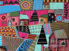 Abstract Town by Karla Gerard