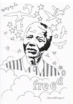 Nelson Mandela Famous People Nelson Mandela Art Unique Coloring Pages Coloring Pages In 2021 Black History Month Crafts Nelson Mandela Art Mandela Art