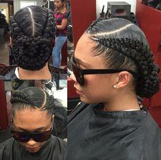 Dope Braided Bun by /hair2serveyou/ - https://community.blackhairinformation.com/hairstyle-gallery/braids-twists/dope-braided-bun-hair2serveyou/