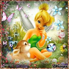 Tinkerbell with rabbit