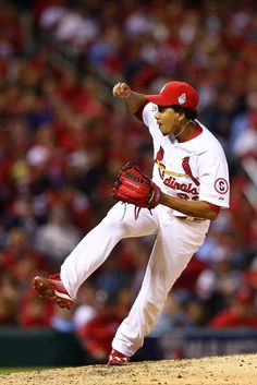 Carlos Martinez reacts against the Boston Red Sox during Game Five of the 2013 World Series. Cards lost the game 3-1 and are down 3-2 in the series. 10-28-13
