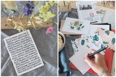 Blumige analoge Post, denn nur wer schreibt, der bleibt! - Jules kleines Freudenhaus Workshop, Poster, Summer Time Love, Mailbox, Glee, Postcards, Writing, Homemade, Nice Asses